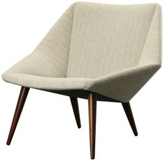danish mid century modern lounge chair mod 93 low back version designed by