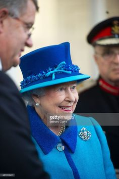 Queen Elizabeth II accompanied by Prince Philip, The Duke of Edinburgh, visits the Chapel to view the restoration and meet local people involved with the project at the Royal Dockyard Chapel during an official visit on April 29, 2014 in Pembroke Dock, United Kingdom. This year sees the 200th anniversary of the town of Pembroke Dock. The Royal Dockyard Chapel has undergone a restoration project to become the base for Pembroke Dock's Heritage Centre which celebrates 200 years of a unique naval…