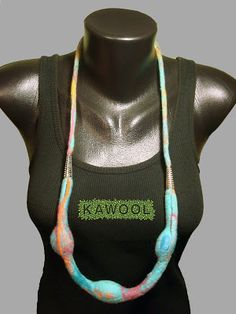 [Nuno felting Necklace] Kawool Catarina Pereira