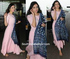 Divya Khosla Kumar in a simple anarkali Casual Indian Fashion, Indian Fashion Dresses, Indian Gowns, Indian Attire, India Fashion, Indian Outfits, Pakistani Dresses, Fashion Clothes, Simple Kurta Designs