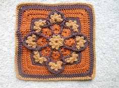 Crochet Afghan Squares | CROCHET.squares / JulieAnny's Stained Glass Afghan Square ~ free ...