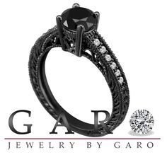 Vintage Style  - black gold ring <3 Rather have a diamond or colored stone, but the black gold is amaaazing