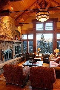 not only would i like this log home, i would also like this view...loveeee  www.homeaway.com