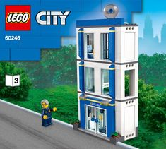 LEGO 60246 Police Station instructions displayed page by page to help you build this amazing LEGO City set Lego City Sets, Lego Sets, Lego City Police Station, Modele Lego, Group Of Companies, Lego Instructions, Building, Toys, Ideas