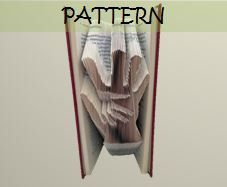 Book folding Pattern HAND on HAND design by TheFoldedBookCompany, £6.00