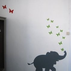 muurschildering-olifant
