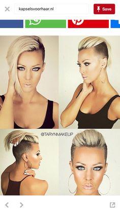My cut # cut # hair - Kurzhaarfrisuren - Short Hair Undercut, Undercut Hairstyles, Short Hair Cuts, Short Hair Styles, Short Pixie, Rihanna Short Hair, Cooler Stil, Shaved Hair Designs, Fresh Hair