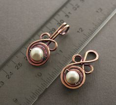 cool copper and pearl clasp