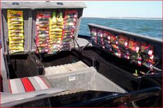 10 Inspiring Excellent And Best Boat Organization Ideas To Keep Your Boat Clean - Page 2 of 12 Bass Fishing, Fishing Boats, Fishing Tips, Fishing Videos, Walleye Fishing, Fishing Stuff, Fishing Reels, Fishing Tackle, Bass Boat Accessories