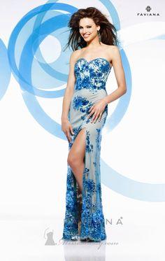 Faviana S7155 Dress - Available at www.missesdressy.com