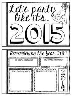 {FREE!} NEW YEAR'S ACTIVITY BOOK - TeachersPayTeachers.com