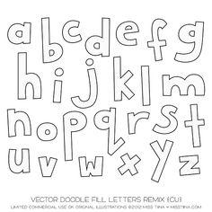 SHCO Confectionery - CU - Vectors - Vector Doodle Fill Letters Remix {CU} - Join at www.sugarhillco.com/cc