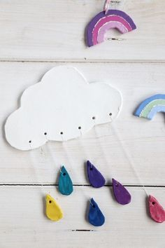 Craft Projects For Kids, Clay Projects, Diy For Kids, Clay Wall Art, Clay Art, Diy Clay, Clay Crafts, Ceramic Pendant, Diy Home Crafts