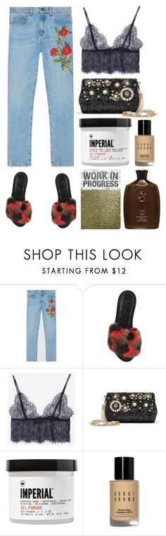 """5.119"" by katrinattack ❤ liked on Polyvore featuring Gucci, Bally, Dolce&Gabbana, Imperial Barber Products, Bobbi Brown Cosmetics and Oribe"