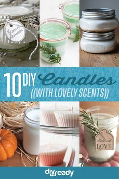 10 DIY Soy Candles You Will Love, see more at http://diyready.com/diy-soy-candles-10-addictive-scents-you-will-love