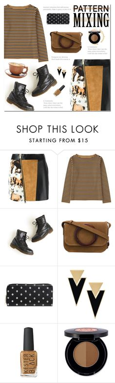 """""""Head-to-Toe Pattern Mixing"""" by polly301 ❤ liked on Polyvore featuring FAUSTO PUGLISI, Uniqlo, Dr. Martens, Yves Saint Laurent, Merona, Anastasia Beverly Hills and patternmixing"""