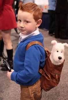 #Disfraz casero para niño de Tintín ¡Igualitos! :)