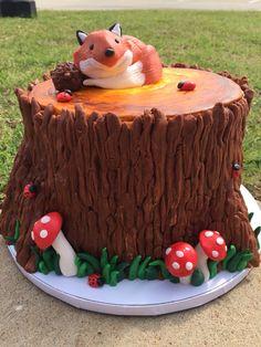 Fox baby shower cake. #Woodland creature #babyshowercake | Courtneys confections | @courtneysconfectionsok