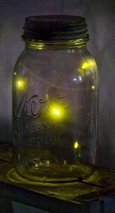 Kerr Canning Jar & Lighting Bugs a memory from the past, brought back to life as of late by my Grandtreasures