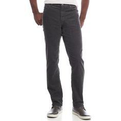 Michael Kors Graphite Tailored Fit Corduroy 5-Pocket Pants ($125) ❤ liked on Polyvore featuring men's fashion, men's clothing, men's pants, men's casual pants, graphite, men's five pocket pants, mens corduroy pants and men's 5 pocket pants