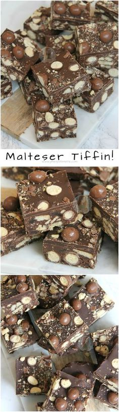 ❤️ A No-Bake Chocolate Traybake made of all things Deliciou… Malteser Tiffin! ❤️ A No-Bake Chocolate Traybake made of all things Delicious. Biscuits, Maltesers, Dark and Milk Chocolate and more making heavenly Malteser Tiffin! Tray Bake Recipes, Baking Recipes, Cake Recipes, Yummy Treats, Delicious Desserts, Sweet Treats, Yummy Food, Malteser Tiffin, Kitchen Organization