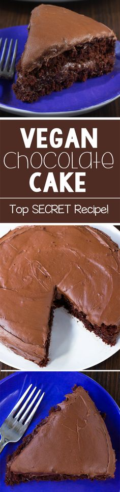 Do you know what's in a vegan chocolate cake? It's actually ingredients you might even have on hand for this recipe