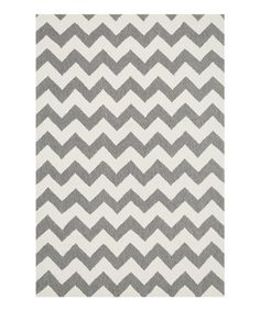 Look what I found on #zulily! Ivory & Steel Zigzag Summerton Rug by Loloi Rugs #zulilyfinds