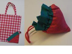 Patroon : Strawberry bag van I Katbag