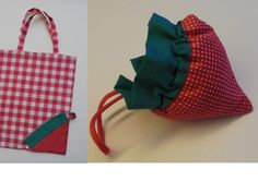 Patroon : Strawberry bag van I Katbag