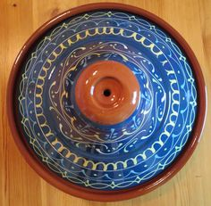 Dag 4; Blauw #synchroonkijken Plates, Tableware, Licence Plates, Dishes, Dinnerware, Griddles, Tablewares, Dish, Place Settings