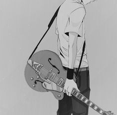 Erin: *plays music but notices you* eh... Now just go away okay *puts his violin guitar hybrid away*