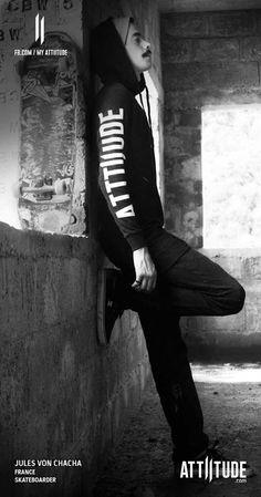 My life. My rules My attiitude.... French skateboarder Jules Von Chacha with Attiitude.com #myattiitude #alternativefashion #meninstyle #skateboarding #skatelife — with Jules Von Chacha.