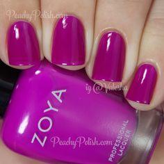 Zoya Charisma   Peachy Polish #pink/purple