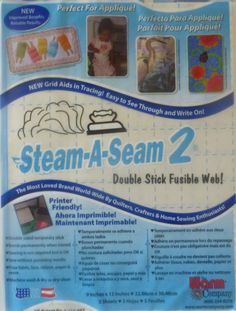 5 Pkgs Regular Steam-a-Seam 2, Double Stick Fusible Web, by the Warm Company, Fast Shipping