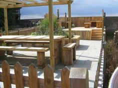 Barbara Gilbert's magnificent seaside project with railway sleepers