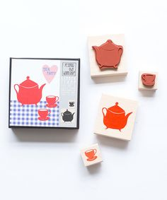 Look at this Five-Piece Tea Set Stamp Set on #zulily today!