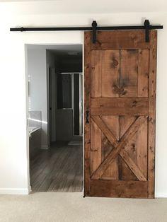 Double Z Barn Door - April 14 2019 at Making Barn Doors, Diy Sliding Barn Door, Sliding Doors, Entry Doors, Front Doors, Barnwood Doors, Barn Wood Frames, Wooden Doors, House Slide