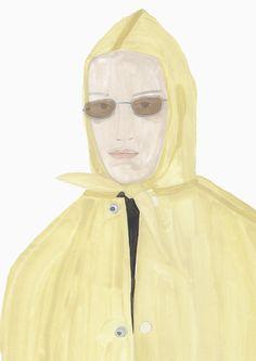 — Balenciaga raincoat, illustration by SainteMaria