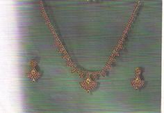 Ruby Set Nec piece and Earrings