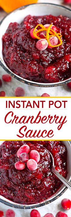 Delicious and quick, easy Instant Pot Cranberry Sauce. Tastes so much better than the canned kind! And NO honey in this one :)