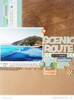 Scenic Route Scrapbook Layout By qingmei