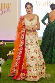 Floral Bridal Lengha Kajals-couture-INDIAN-PAKISTANI-WEDDING-FASHION