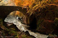 The bridge, Hermitage, Dunkeld, Scotland by Johnmckenna.deviantart.com on @deviantART