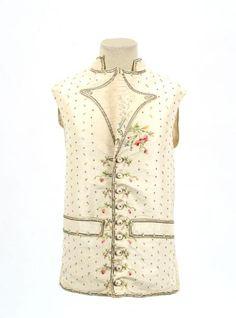 18th c. Louis XVl period Waistcoat; silk