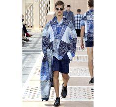 Le défilé Louis Vuitton printemps-été 2014 Tendance bleu