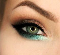 Makeup Geek Eyeshadows in Bling, Corrupt, Envy, Latte, Mermaid, Mirage, Mocha, and Vanilla Bean + Makeup Geek Pigment in Birthday Wish. Look by: gajewska.wiktoria
