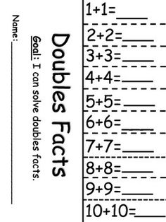 math worksheet : 1000 ideas about doubles addition on pinterest  doubles facts  : Doubles Math Worksheet