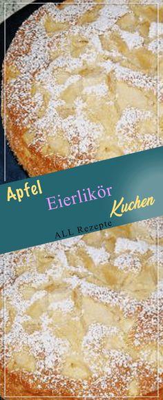 Apfel Eierlikör Kuchen.#Kochen #Rezepte #einfach #köstlich