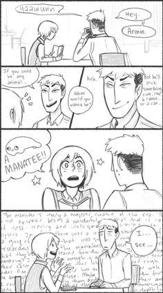 Attack On Titan  funny comic   comic snk Aurum art shingeki no kyojin attack on titan Armin Arlert ...