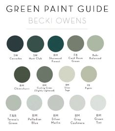 2018 Trend: Sage Green CabinetryBECKI OWENS Today we are sharing a trending color for sage green. This soft green-grey is a fresh neutral that looks beautiful on cabinetry. Check out these laundry rooms and kitchens + check out our green paint guide. Green Paint Colors, Interior Paint Colors, Paint Colors For Home, House Colors, Green Wall Color, Sage Color, Paint Decor, Colours, Room Interior